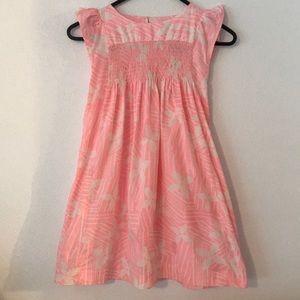 Tea Collection Smocked Floral Print Dress